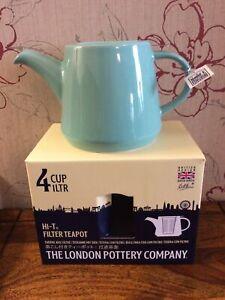 London Pottery Co Hi-T Infuser Teapot Set, Stoneware, Splash, 4 Cup / 1 Litre