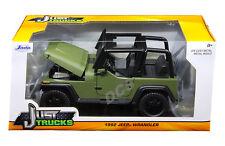 Jada 1992 Jeep Wrangler Mat Vert 1/24 Voiture Miniature 98132
