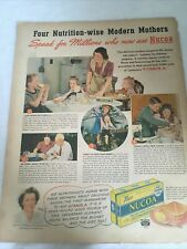1933 Vintage Print Ad  Nucoa Margerine 30's Baking Nutrition Wise Mothers Baking