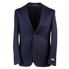 Canali Navy Blue and Lavender Fine Stripe Wool Suit 38R (Eu 48) NWT