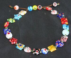 Venetian Handmade Colourful Flower Bead Anklet (Adjustable)004