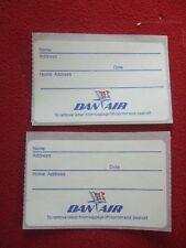 AIRLINE BAGGAGE STICKERS X 2 DAN AIR 1980'S / 90'S VINTAGE