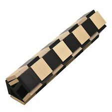 """Solid Wood Roll Up Travel chess board in Ebony & Maple wood- 40 mm square- 12.6"""""""