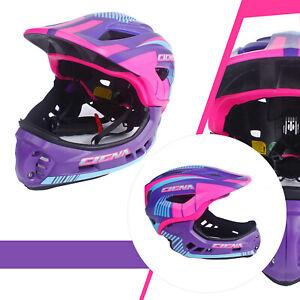 CIGNA TT32 Kids Bike Full-face Helmet 2 in 1 for Boys&Girls Cycling use Purple M