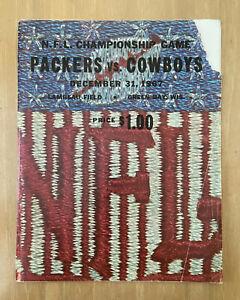 VINTAGE 1967 NFL CHAMPIONSHIP ICE BOWL PROGRAM DALLAS COWBOYS GREEN BAY PACKERS