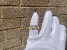 Iced 18K Gold Plated Baguette Stone Pinky Ring Size 7
