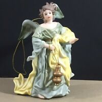 Milano Porcelain Angel Ornament Sculpture Eda Mann 1982 80s vintage Christmas