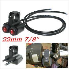 22mm 7/8'' 2 Way Red Light Motorcycles Handlebar CNC Aluminum Switch Waterproof