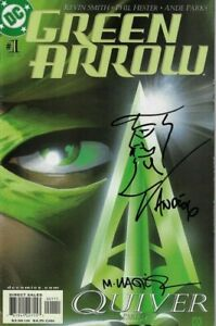 GREEN ARROW #1 SIGNED BY PARKS WITH REMARK AND WAGNER DC COMICS 2001 EB201