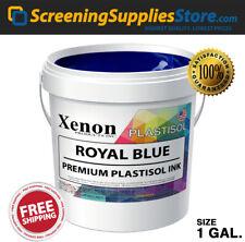 Xenon Royal Blue Plastisol Ink For Screen Printing 1 Gallon 128oz