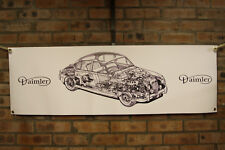 Daimler 2.5 v8 v8.250 Groß PVC Heavy Duty Laden Arbeit Banner Garage Show