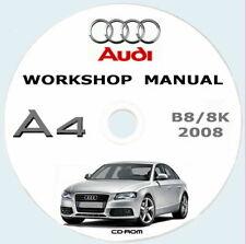 Workshop manual Audi A4+Avant (8K),manuale officina Audi A4 B8 8K,anno 2008/2012