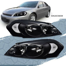 Pair Of Headlight Set Fit For 06 16 Chevrolet Impala Smoke Lens Chrom Housing Fits 2006 Impala