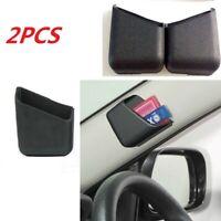 2x Black Universal Car Auto Accessories Phone Organizer Storage Bag Box Holders
