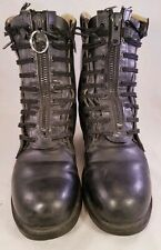 RARE CHIPPEWA VINTAGE BOOTS STEEL TOE ZIP LACE UP MAN SIZE 8 EE