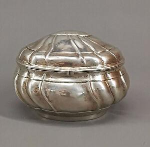 8730003 Barocke Zuckerdose Silber 13x11x9cm