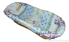 LE CLUNY, LAVENDER BLUE FRENCH PROVENCE BREAD / ROLL BASKET w/ LINER, NEW