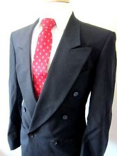 KUPPENHEIMER KUPP Biella Blazer Sport Coat Gray Double Breasted Black Sz 40R