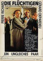 DDR Progress Filmplakat A3 Die Flüchtlinge 1987 P. Richard & G. Depardieu