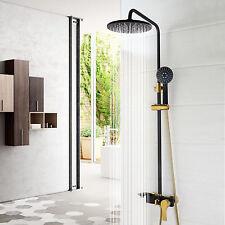 8''pluie noir baignoire douche HeadHeld mitigeur thermostat Faucet frs
