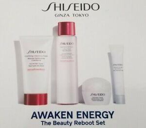 Shiseido Ginza Tokyo Awaken Energy The Beauty Reboot  4 pc Set $63 Value NIB