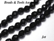 Czech Fire Polished Glass Bead 10mm Jet Czech Beads (25pc) BEADS & TOOLS