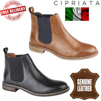 Cipriata Women's Alexandra Leather Chelsea Boots Ladies Twin Gusset Ankle Shoes