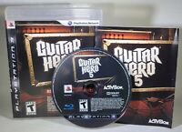 Guitar Hero 5 (Sony PlayStation 3, 2009) CIB Complete in Box, Tested and Working