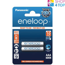 2 PANASONIC ENELOOP RECHARGEABLE AAA HR03 BATTERIES BLISTER PACK 1.2V 800mAh NEW