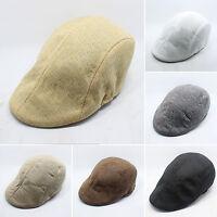 Retro Unisex Men Baker Flat Newsboy Duckbill Golf Hats Beret Cabbie Caps Visor