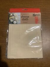 """Natural Home 100% Organic Cotton Cheesecloth 36"""" X 36"""", New In Sealed Package"""