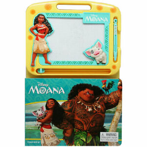 Disney Moana Learning Book with Magnetic Drawing Pad