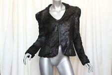 BIRD BY JUICY COUTURE Black EMANUELLE Snake Print+Faux Fur Jacket NEW+TAGS S