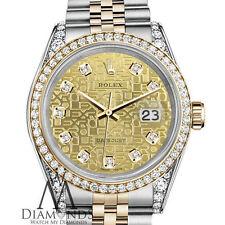 Ladies Diamond Rolex Stainless Steel & 18K 26mm Datejust Champagne Jubilee Dial