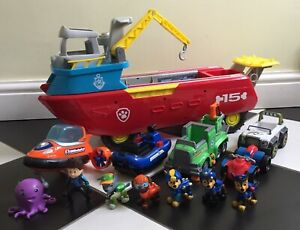 Paw Patrol Sea Patroller Boat Lights & Sounds, x5 Vehicles And x7 Figures Bundle