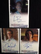 The X Files 2018 Autographs Lot of 3 Includes: Savant,Burns & Robbins