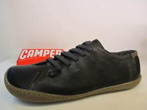 Camper Peu Cami 20848-017 Black Leather Elastic Lace Ladies Shoe