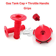 Red Gas Tank Cap Cover Throttle Handle Grips Chinese Dirt Pit Trail Motor Bike