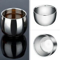 Double Wall Stainless Steel Cup Heat Insulation Coffee Tea Mug Bowl Tumblers New