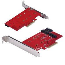 NEU 2 Port NGFF M.2 B+M Schlüssel SSD zu PCI-E PCI Express 4x 4 Lane