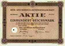 Reis und Handels AG 1929 Bremen Osterholz Scharmbeck Amsterdam Kellogg's 100 RM