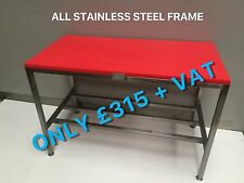 NEW BUTCHERS BLOCK TABLE CHOPPING CUTTING BENCH 1500 mm POLY POLI TOP