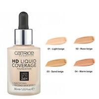 Catrice HD Liquid Coverage Foundation 24h All Shades 100% Genuine Rose Sand Warm