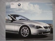 2004 BMW 6 series Convertible Brochure Pub.No. 41100611321