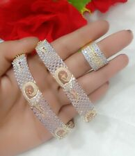 Stunning Gold Plated Party Wear Bangle With Ring Set Fashion Jewelry For Women's