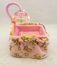 Mattel Fisher Price Loving Family Baby Furniture Pink Bassinet Crib Dollhouse