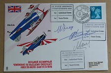 WORLD AEROBATIC CHAMPIONSHIPS KIEV 1976 COVER SIGNED BY 3 RUSSIAN WINNING FLYERS