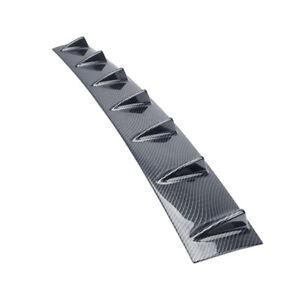 7 Shark Fins Universal Carbon Fiber Bumper Decorative Spoiler Wing Lip Diffuser