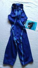 Speedo Fastskin High Neck Knee Skin High Performance Swim Suit Blue Size 25 NWT