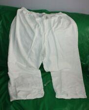 Hot Cotton White Pants Size Women's 2X